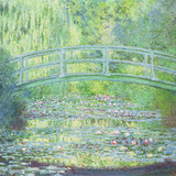 The Waterlily Pond with the Japanese Bridge, 1899 Art by Claude Monet