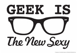 Geek is the New Sexy Pósters por  Snorg Tees