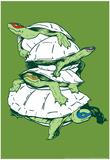 Tartarugas Posters por  Snorg Tees