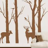 Deer in the Forest Adesivo de parede