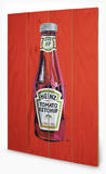 Heinz - Tomato Ketchup Bottle Wood Sign Cartel de madera