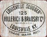 Louisville Slugger - 125 Logo Tin Sign