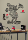 Mickey & Friends - Typography Mickey Mouse Peel & Stick Giant Wall Decals Autocollant mural