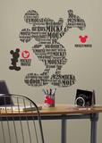 Topolino e amici - Tipografia Topolino gigante Topolino (sticker murale) Decalcomania da muro