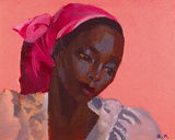 Lady in a Pink Headtie, 1995 Photographic Print by Boscoe Holder
