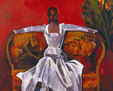 Sheila on a Rattan Settee, 1982 Giclee Print by Boscoe Holder