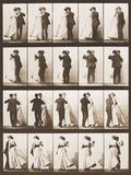 The Waltz Fotoprint van Eadweard Muybridge