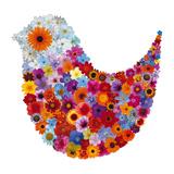 Bird in Bloom Stampa giclée di Sharon Elphick