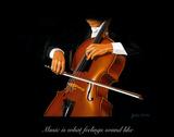 The Cellist Giclée-Druck von Julia Drake