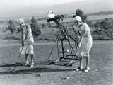 Golf Robot Lámina giclée por  The Vintage Collection