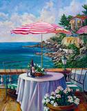 Dejeuner Sur La Cote D'azur II Reproduction procédé giclée par Ginger Cook