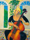 Gelbes Cello Giclée-Druck von Marsha Hammel