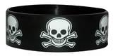 Skull & Crossbones-Wristband Reißverschlusstasche