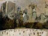 Winter In Manhattan Giclee Print by  Georgie