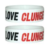I Love Clunge-Wristband Bracciale a fascia