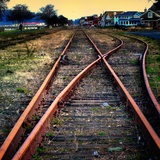 On the Tracks Photographic Print by Jody Miller