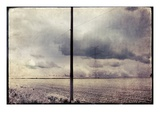 An Open Field with Large Telegraph Pylon Photographic Print by Mia Friedrich