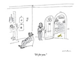 """It's for you."" - New Yorker Cartoon Premium Giclee Print by Michael Maslin"