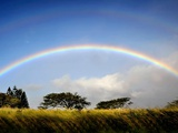 A Double Rainbow Above Countryside Photographic Print by Jody Miller