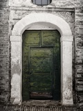 Green door in Penne Photographic Print by Andrea Costantini