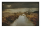 A Rural Scene with Dyke Photographic Print by Mia Friedrich