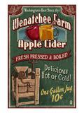 Wenatchee, Washington - Apple Cider Posters af  Lantern Press