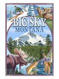 Big Sky, Montana - Scenes Pósters por  Lantern Press