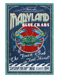 Blue Crabs - Kent Island, Maryland Giclée-Premiumdruck von  Lantern Press