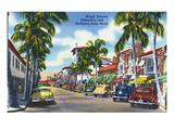 Palm Beach, Florida - View Down Worth Avenue Kunstdrucke von  Lantern Press