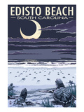 Edisto Beach, South Carolina - Sea Turtles Hatching Poster von  Lantern Press