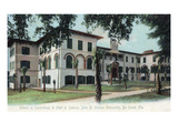 Deland, Florida - Stetson University, Hall of Science Building Prints by  Lantern Press