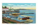 Lake Winnepesaukee, New Hampshire - Seaplanes at the Weirs Poster von  Lantern Press