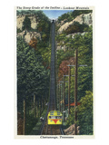 Chattanooga, Tennessee - Lookout Mountain Incline Rail View Poster von  Lantern Press