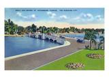 St. Petersburg, Florida - Snell Isle Bridge View Poster von  Lantern Press