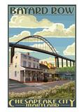 Bayard Row - Chesapeake City, Maryland Art by  Lantern Press
