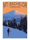 Mt. Bachelor and Skier - Oregon Pôsters por  Lantern Press