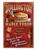 Burlington, Vermont - Maple Syrup Art par  Lantern Press