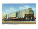 Houston, Texas - Exterior View of Sears Roebuck and Co Department Store Lámina por  Lantern Press