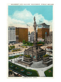 Cleveland, Ohio - Public Square Soldiers and Sailors Monument Prints by  Lantern Press