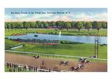 Saratoga Springs, New York - View of the Race Track Finish Line Poster von  Lantern Press