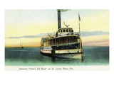 Florida - Fred'k De Bary Steamer on St. John's River Poster von  Lantern Press