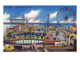 Wildwood, New Jersey - Wildwood-By-The-Sea Playland View Print by  Lantern Press