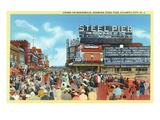 Atlantic City, New Jersey - Steel Pier View from Boardwalk Kunst af  Lantern Press