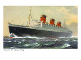 View of Cunard Ocean Liner Queen Mary Prints by  Lantern Press