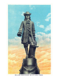 Philadelphia, Pennsylvania - William Penn Statue on City Hall Tower Print van  Lantern Press