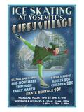 Curry Village Ice Skater - Yosemite National Park, California Prints by  Lantern Press