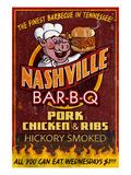 Nashville, Tennessee - Barbecue Giclée-Premiumdruck von  Lantern Press
