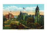 Philadelphia, Pennsylvania - University of Pennsylvania Campus Posters by  Lantern Press