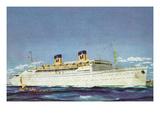 View of Matson Liner SS Lurline Láminas por  Lantern Press