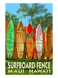 Maui, Hawaii - Surfboard Fence ポスター : ランターン・プレス